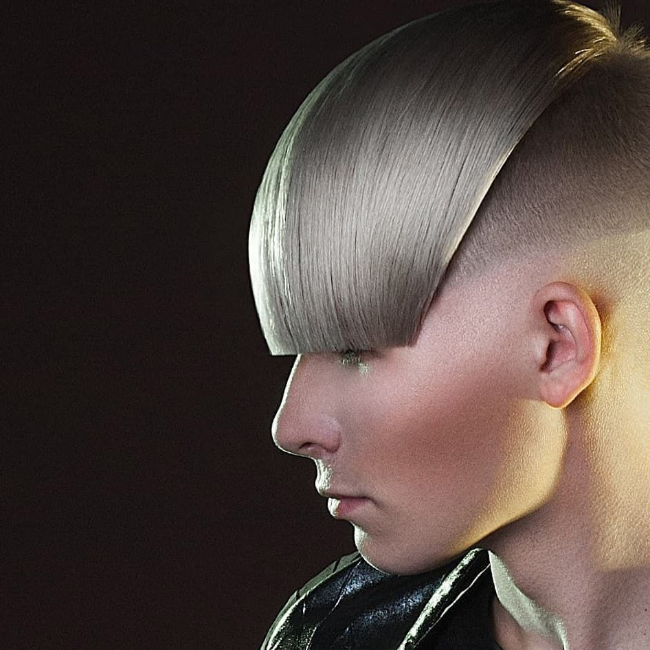 Long Fringe Undercut for Straight Hair