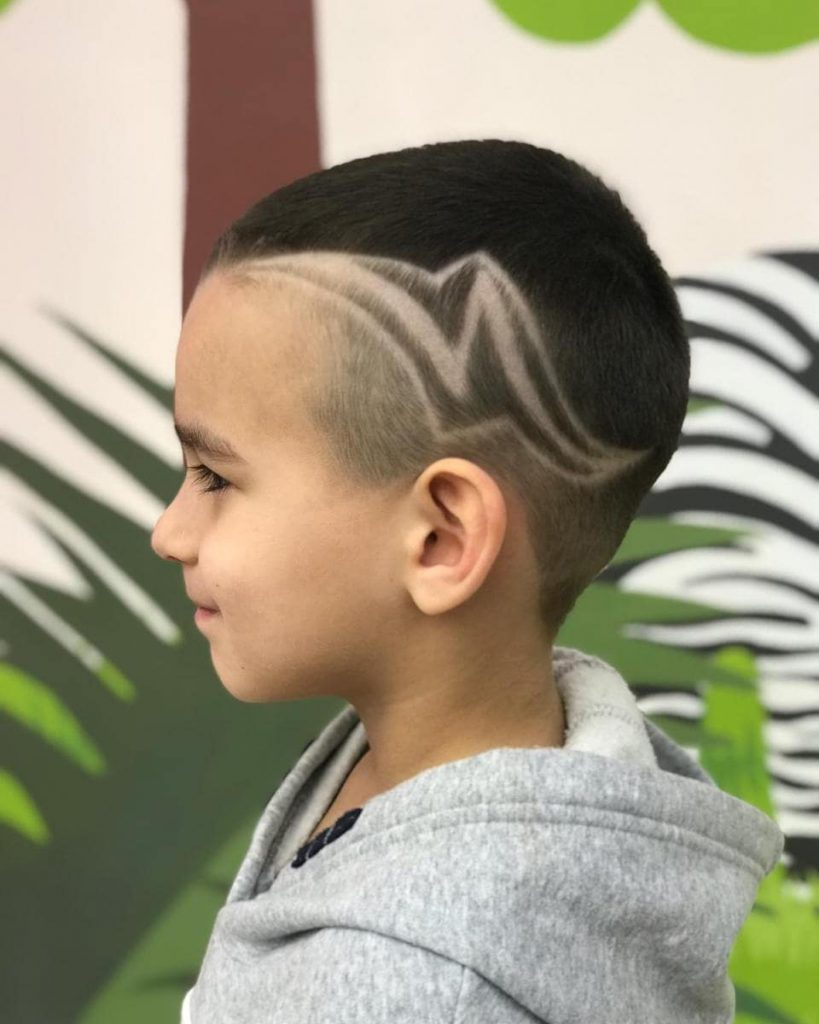 Long N Fade Undercut Hairstyle for Kids