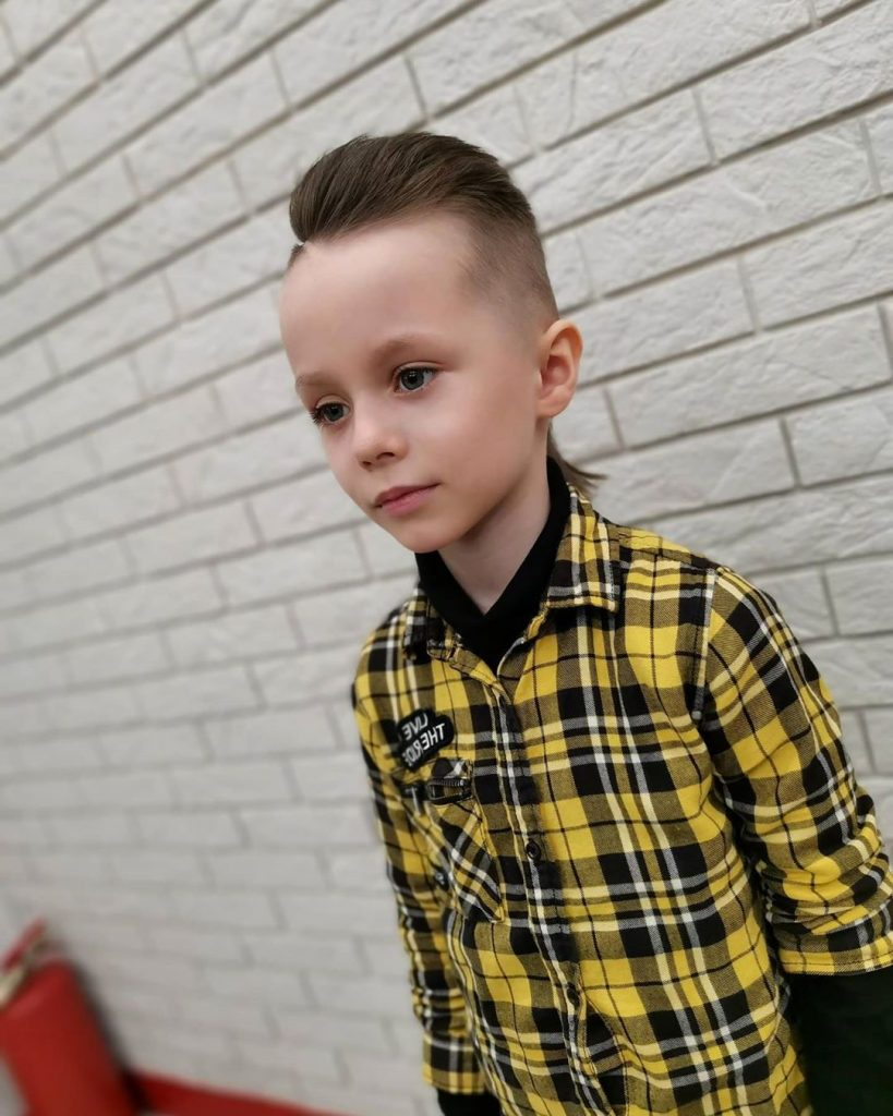 Long Undercut Cut for Boys with Alien Design