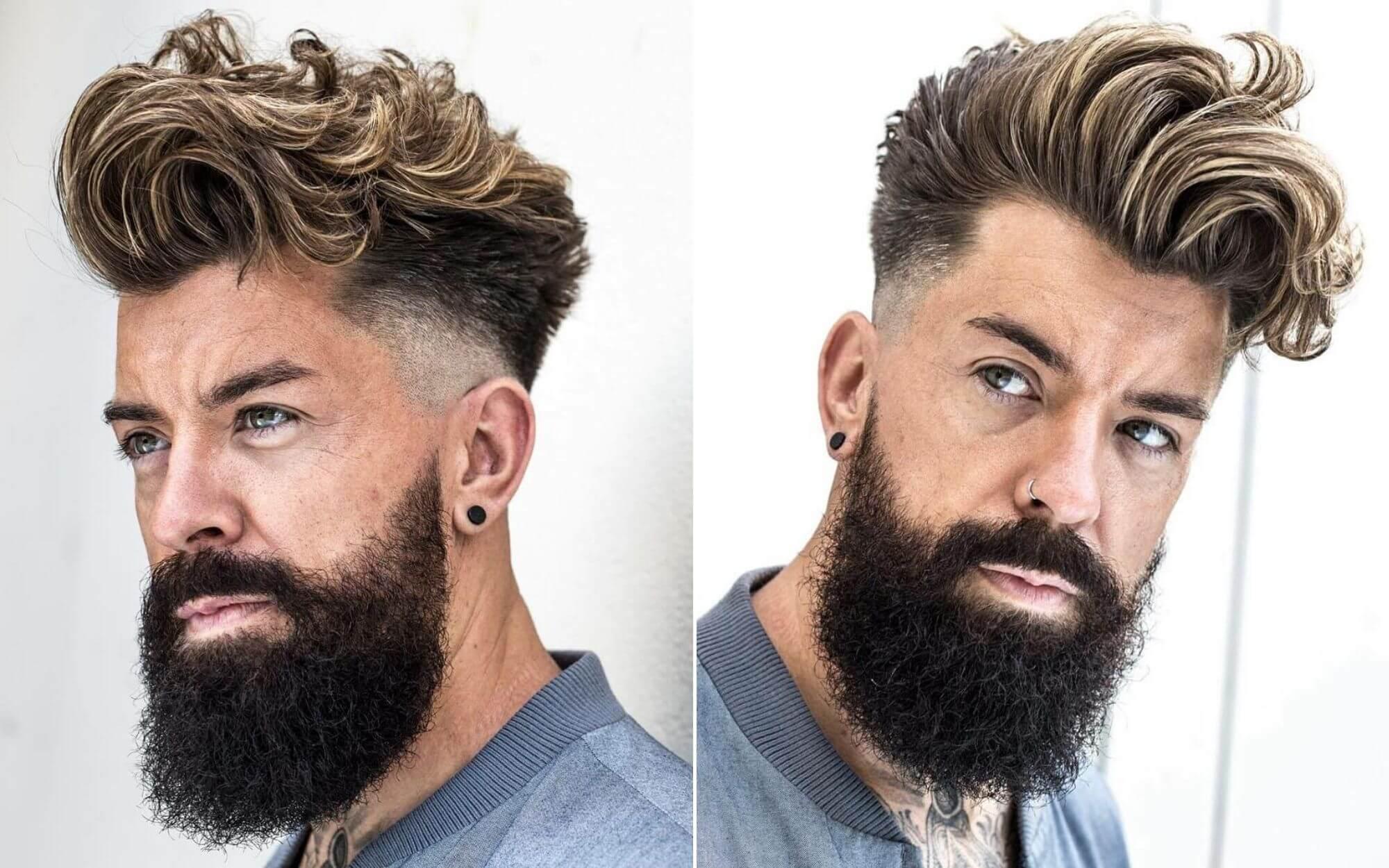 Long Wavy Hair with Undercut and Beard