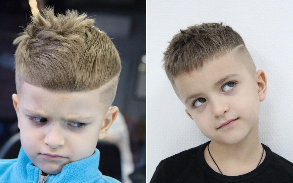 Messy Disconnected Undercut Haircut for Boys
