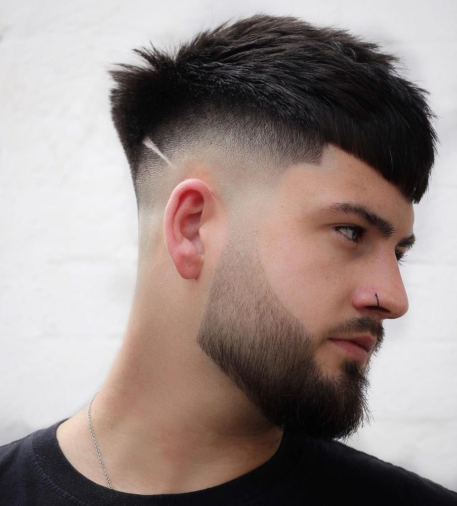 Messy Undercut Hairstyle for Men with Beard