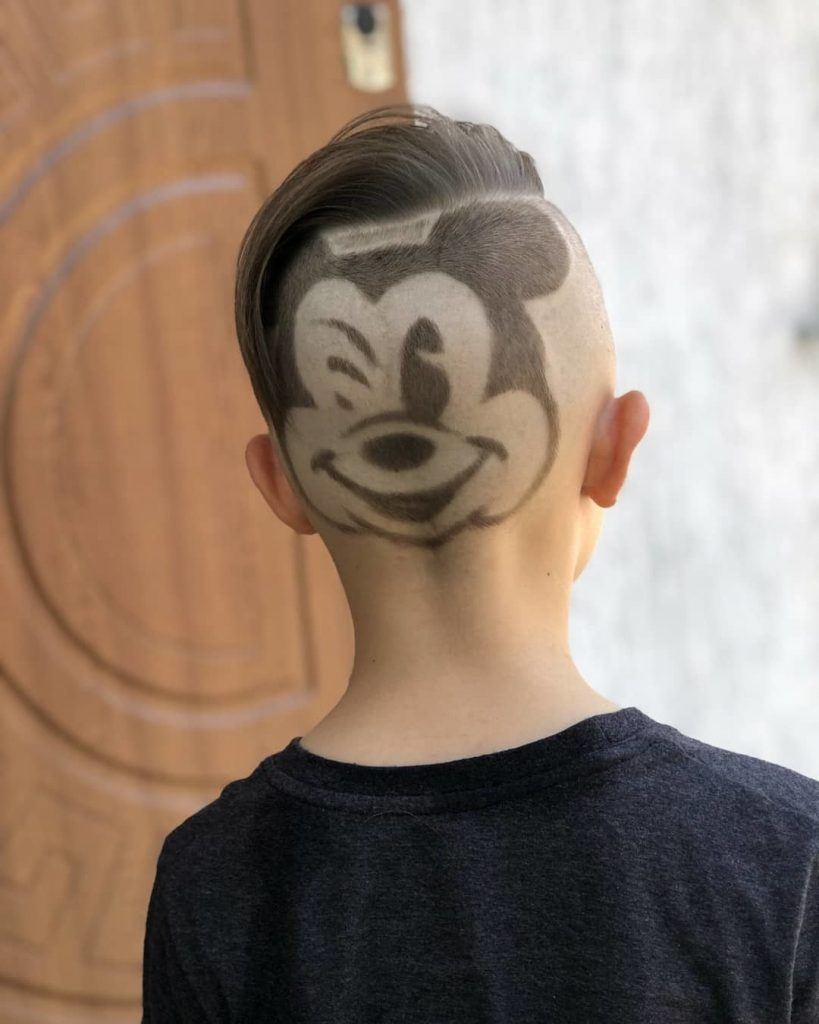 Mickey Mouse Design Undercut for Kids