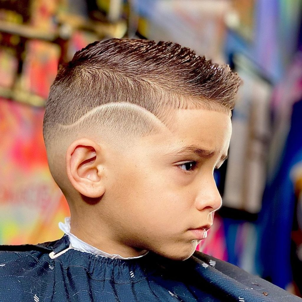 Mohawk Undercut Hairstyle for Toddler Boys