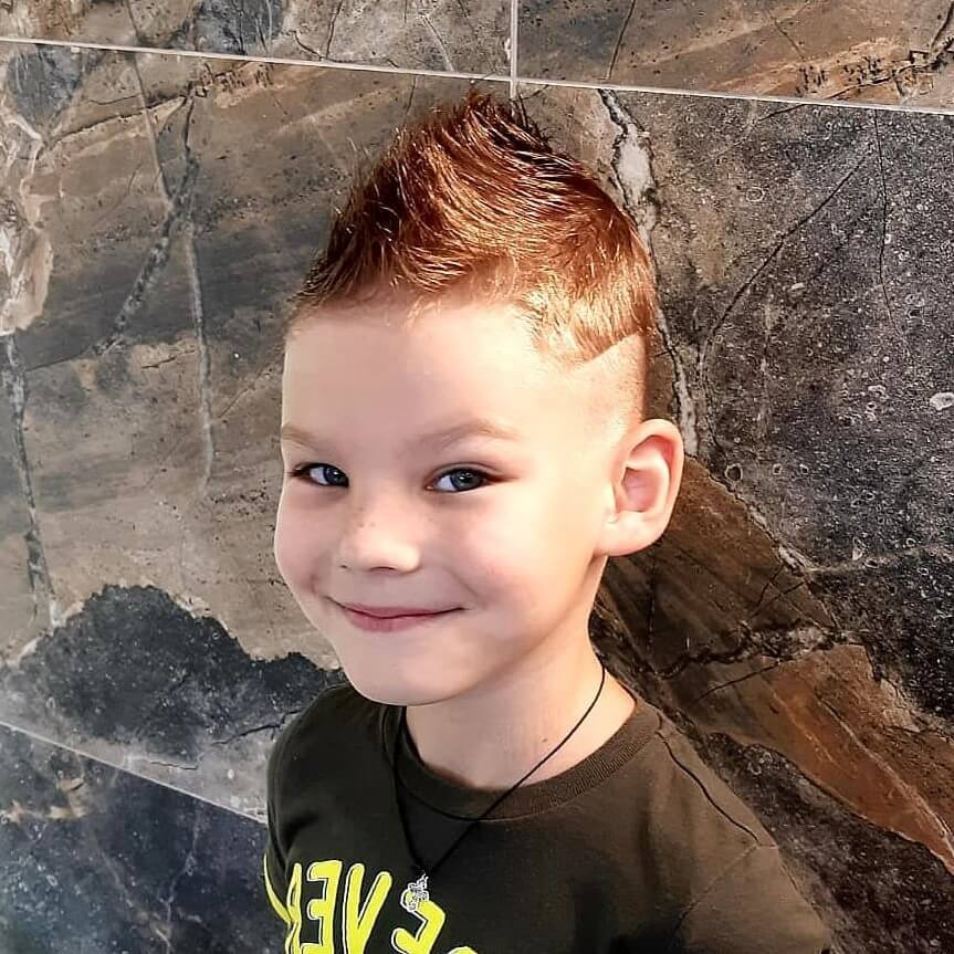 Mohawk Undercut Hairstyle with Medium Fade for Kids