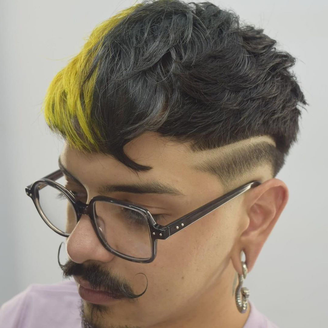 Nerd Messy Hairstyle with Goatee