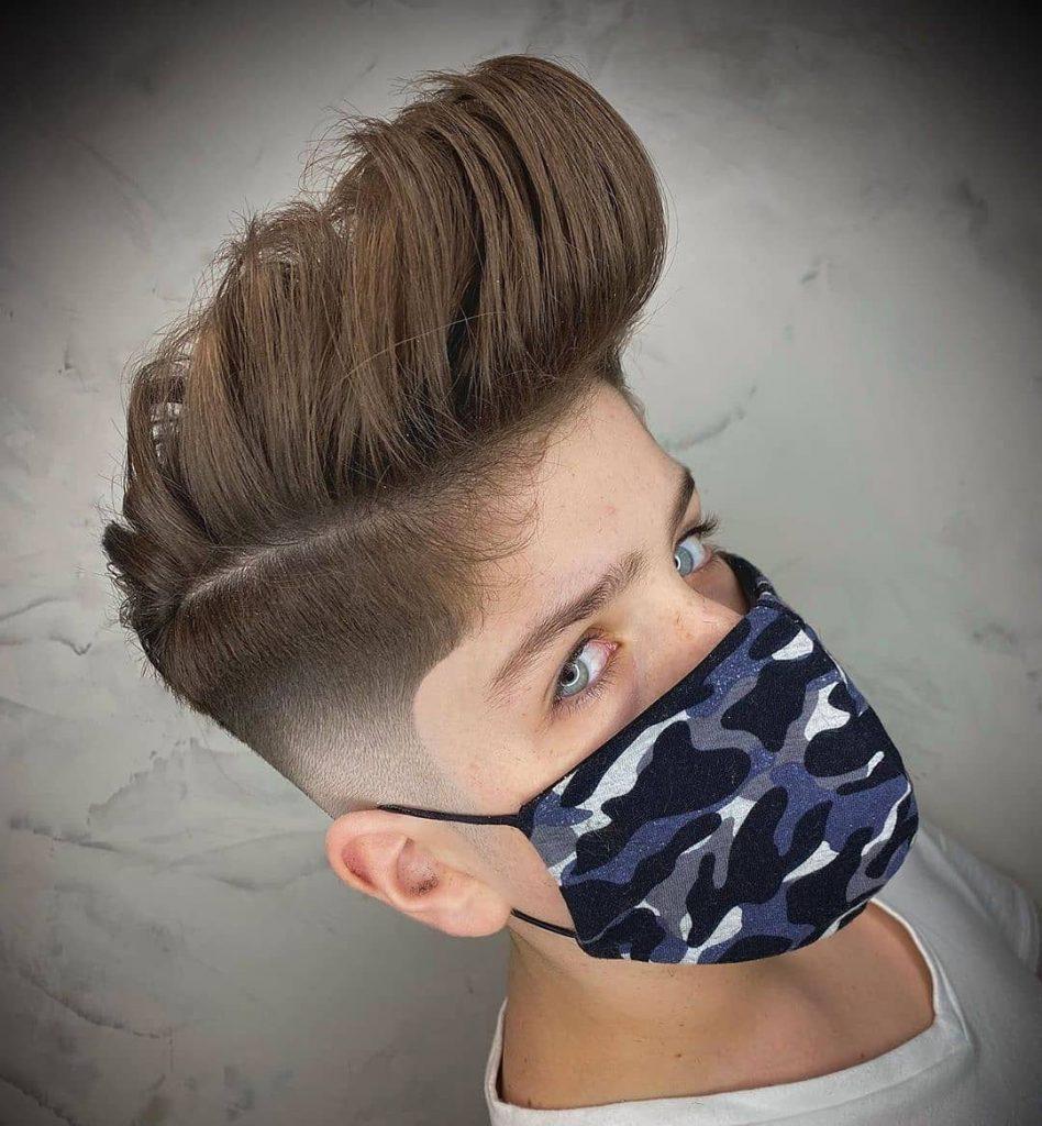 Pomp Undercut Haircut for Boys