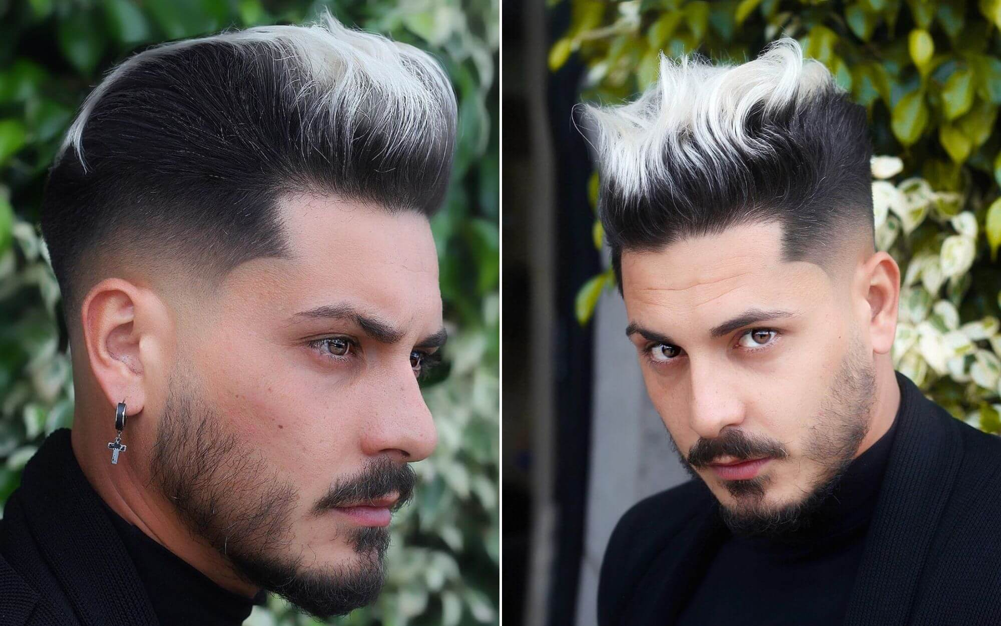 Pompadour Hairstyle with Undercut