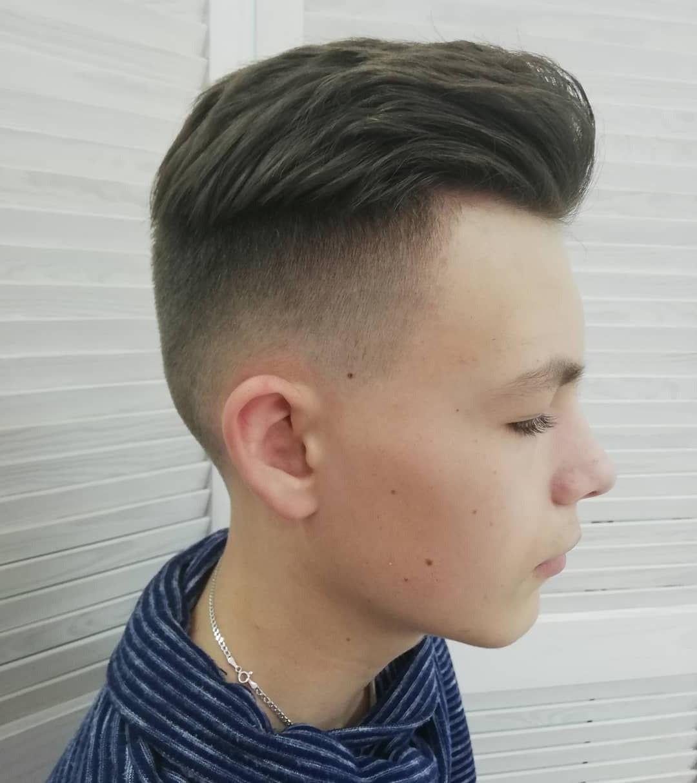 Pompadour Undercut Hairstyle for Boys