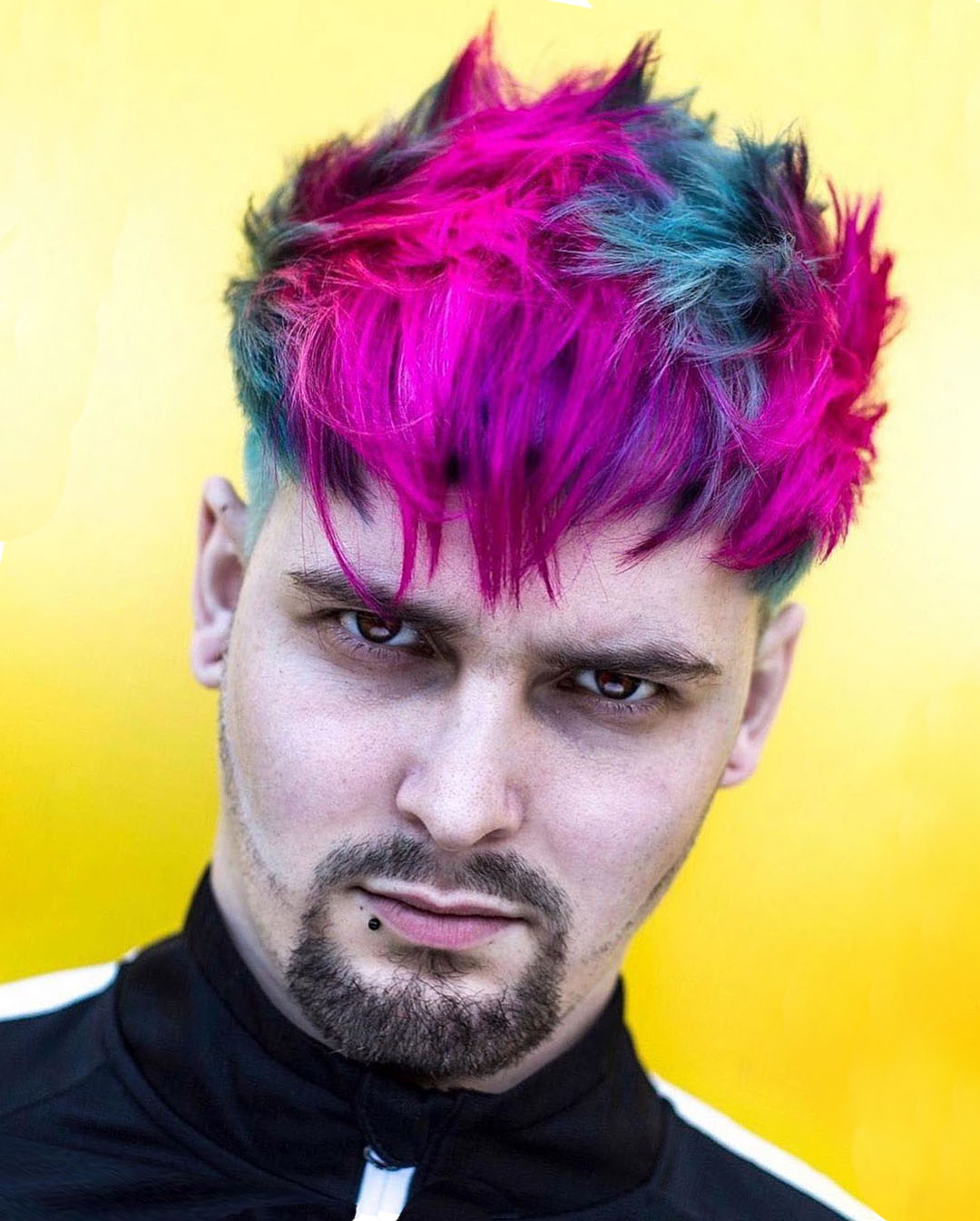 Rainbow Messy Hairstyle for Guys