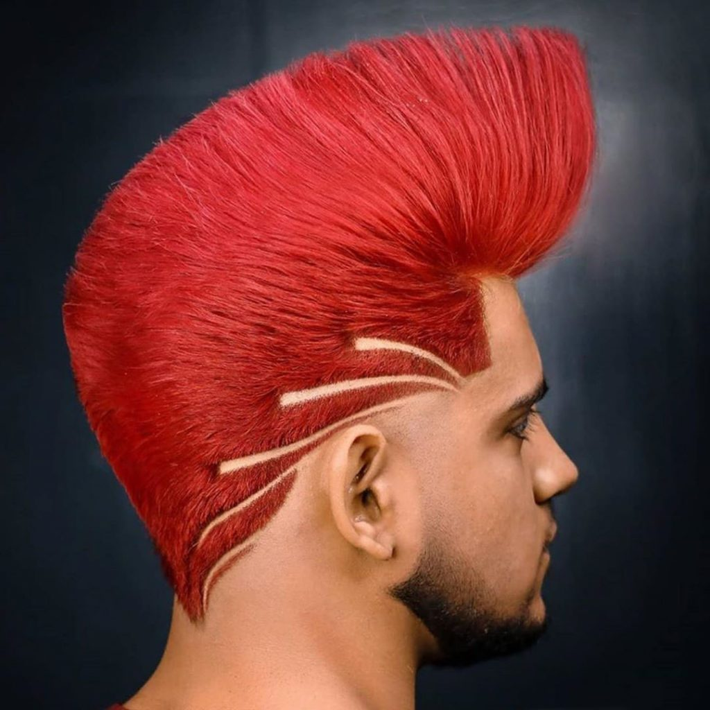 Red Rooster Hairstyle for Guys