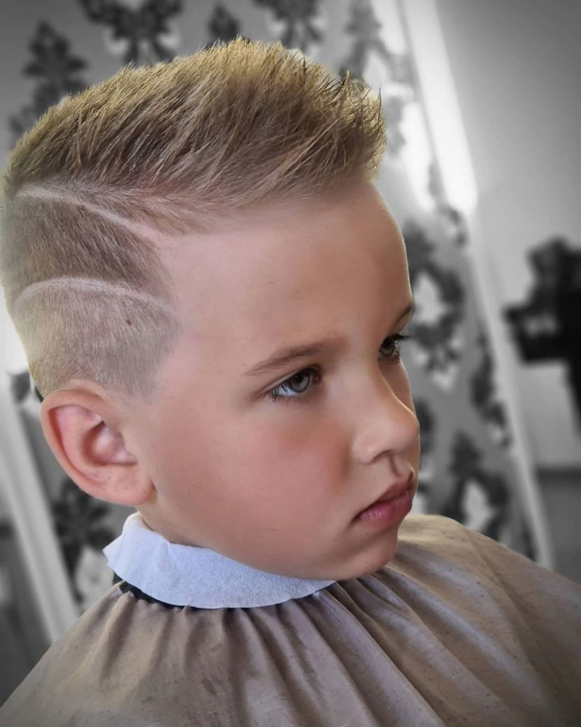 Short Toddler Boy Haircut with Layered Fade
