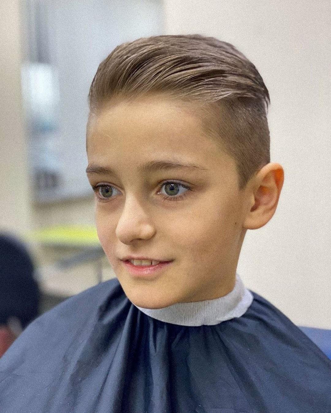 Side Part Haircut for Cute Boys