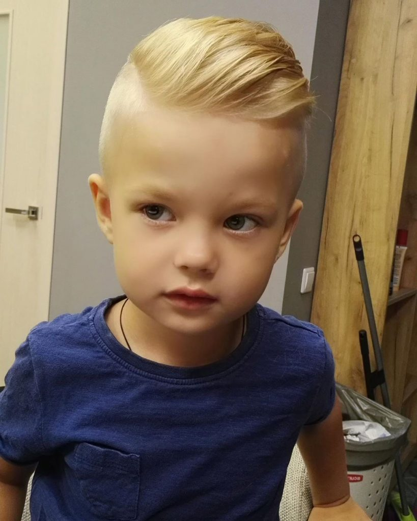 Side Part Undercut with Skin Fade for Toddler Boys