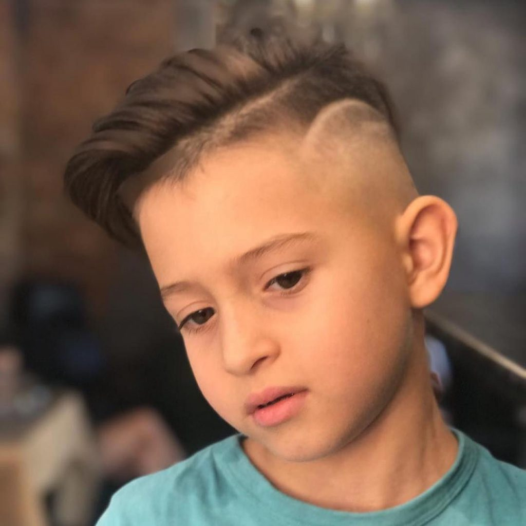 Skin Fade Undercut with Side Swept