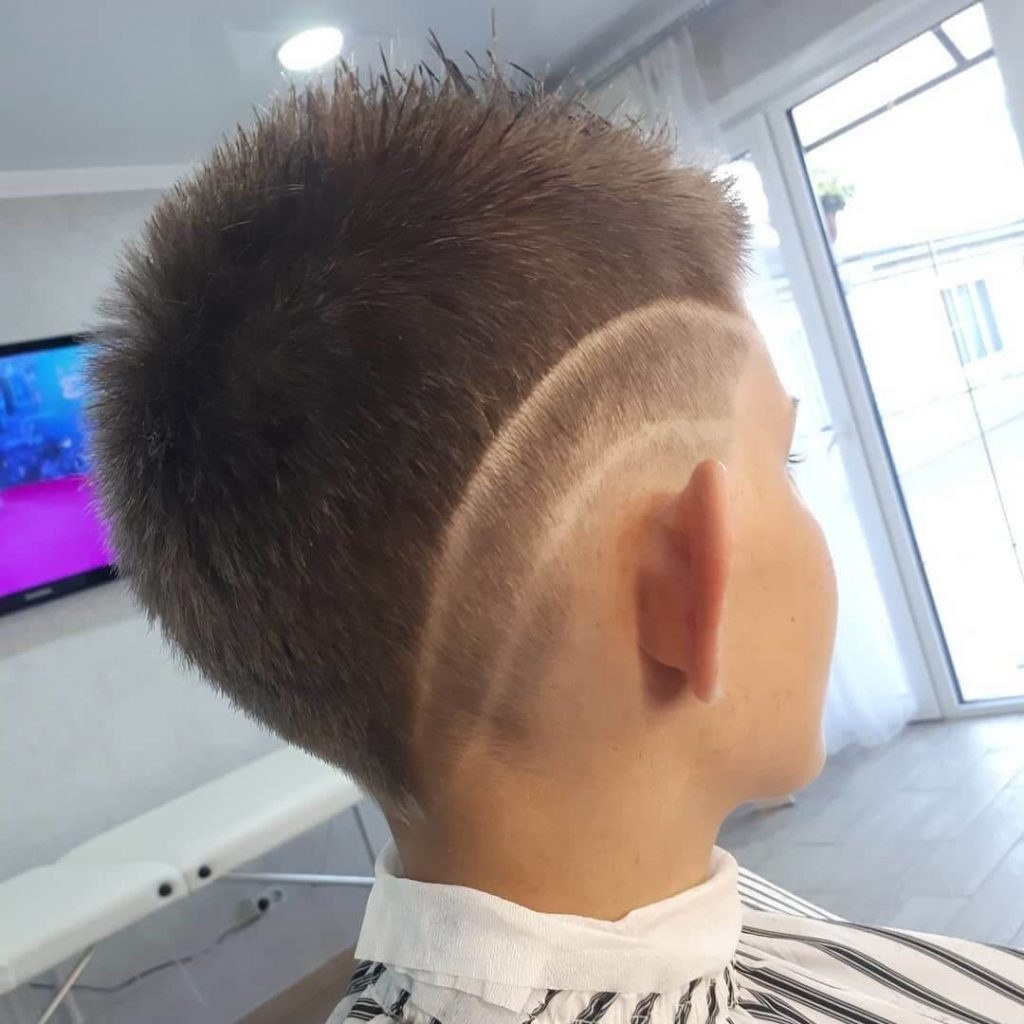Spiky Teen Undercut Hairstyle - back side view