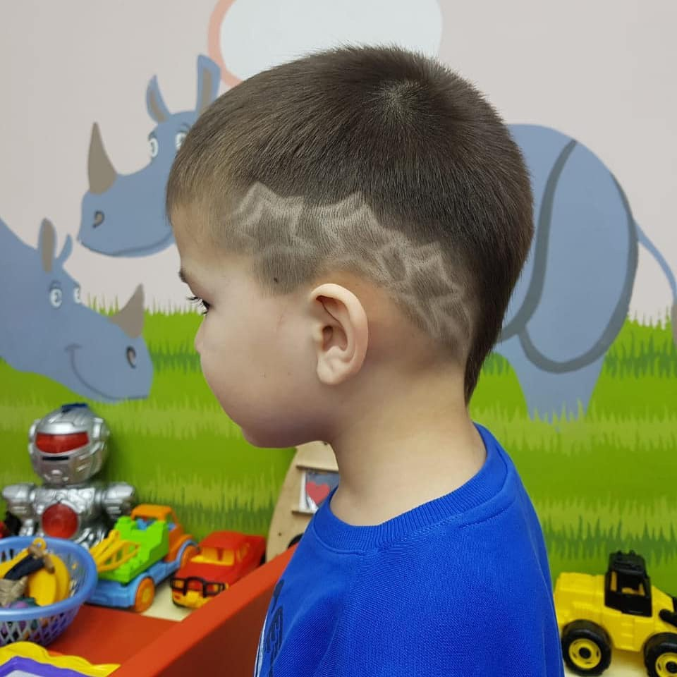 Star Hair Design for Toddler Boys