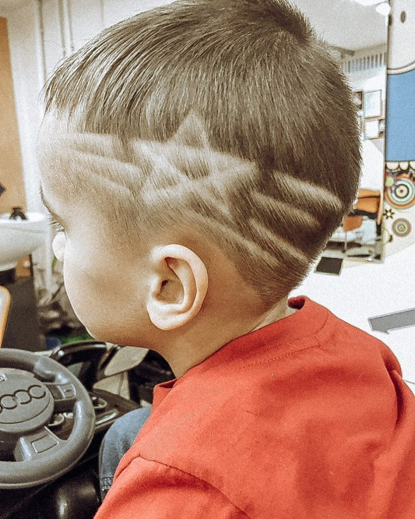 Star and Lines Design Haircut for Children