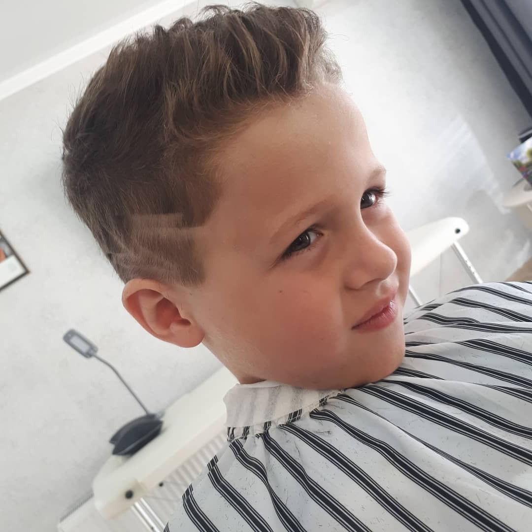 Toddler Boy Brushed Up Teen Undercut Haircut