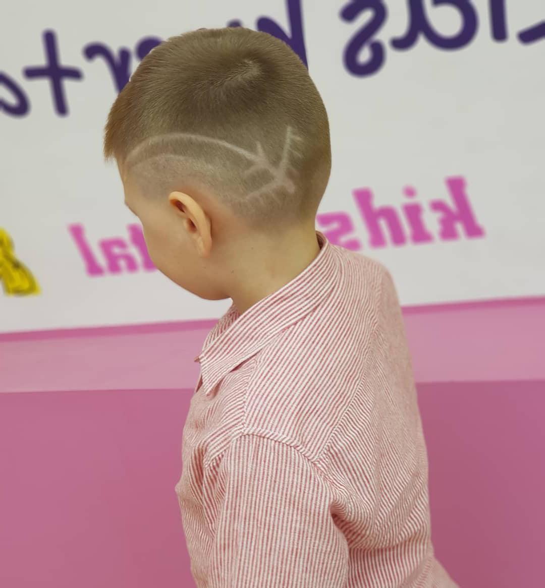 Toddler Boy Dive Plane Fade Undercut Hairstyle