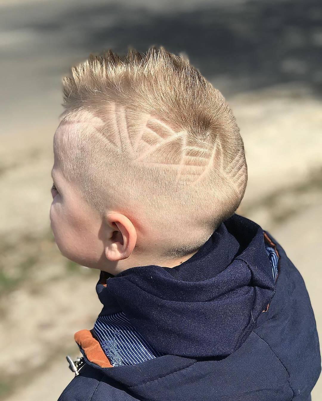 Toddler Boy Mohawk Haircut - back side view