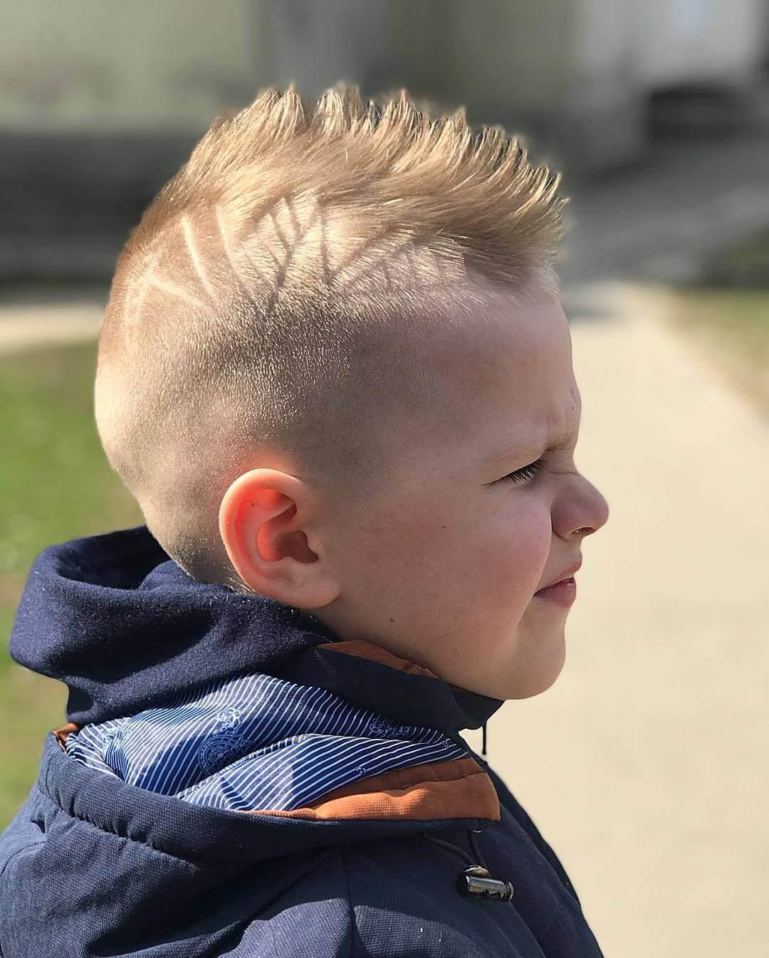 Toddler Boy Mohawk Haircut - side view