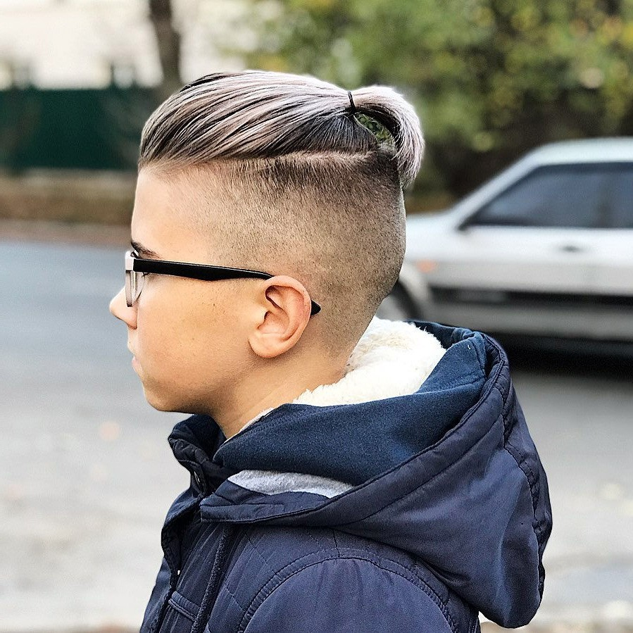 Top Knot Boys' Undercut Hairstyle