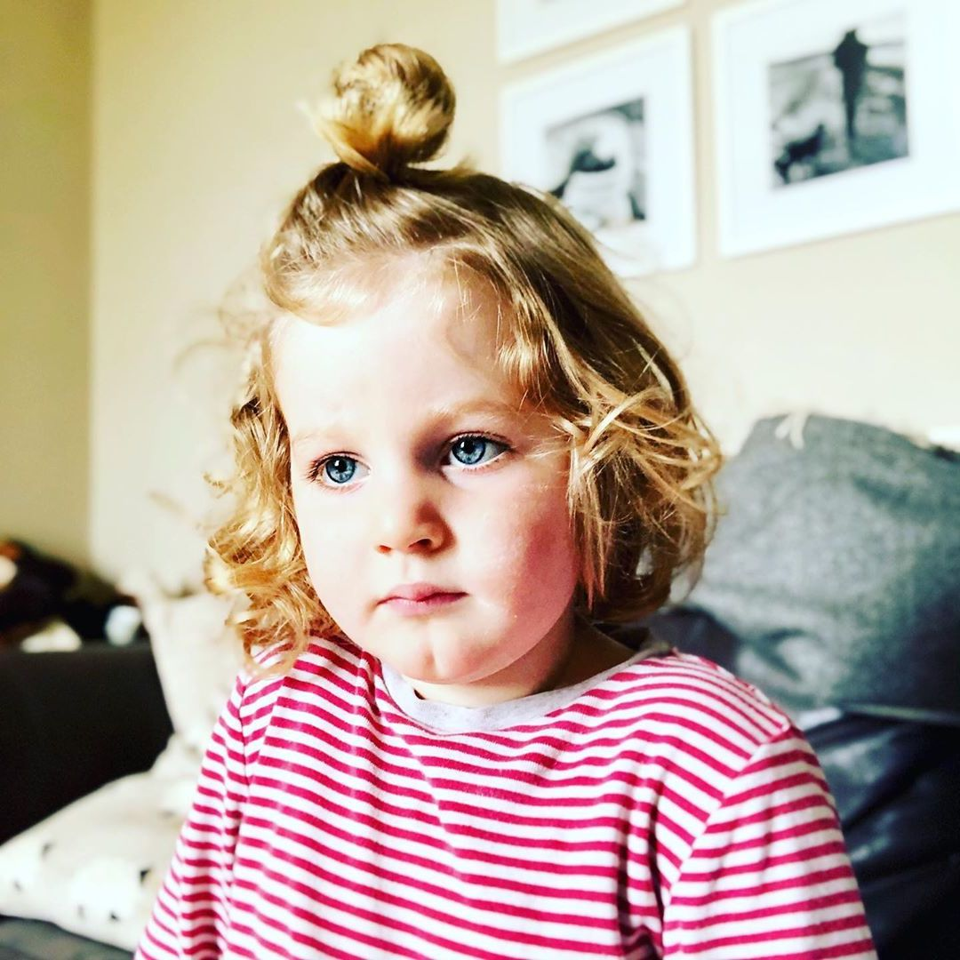 Topknot Toddler's Hairstyle