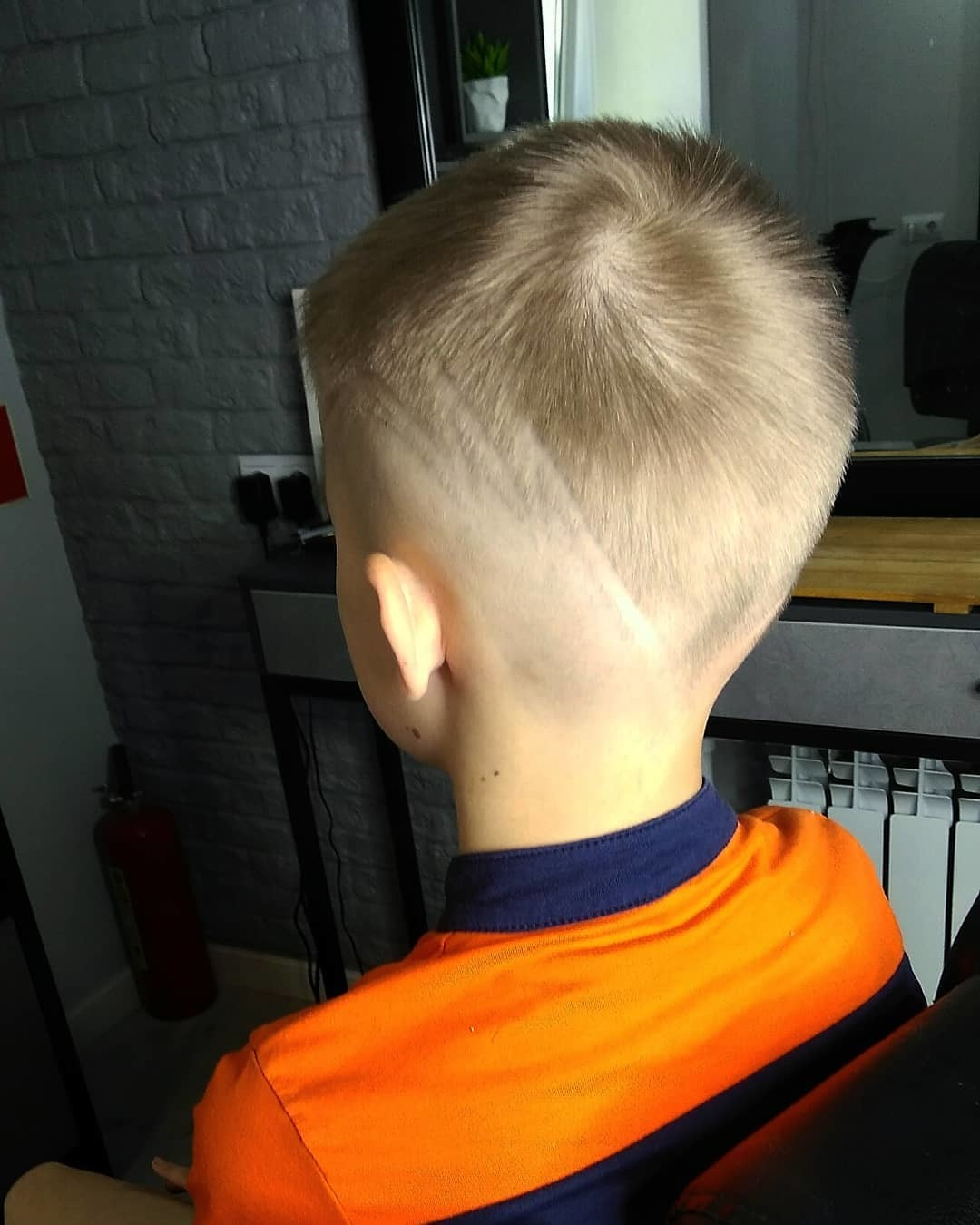 Undercut Design with Long Zig Zag Line for Kids