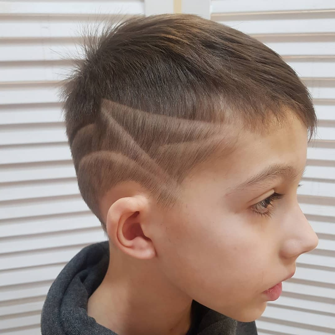 Undercut Haircut with Fringe and Letter Z for Kids