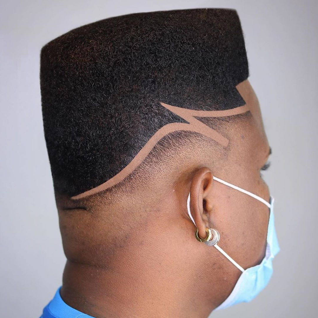 Afro Temple Hairstyle with Modern Design