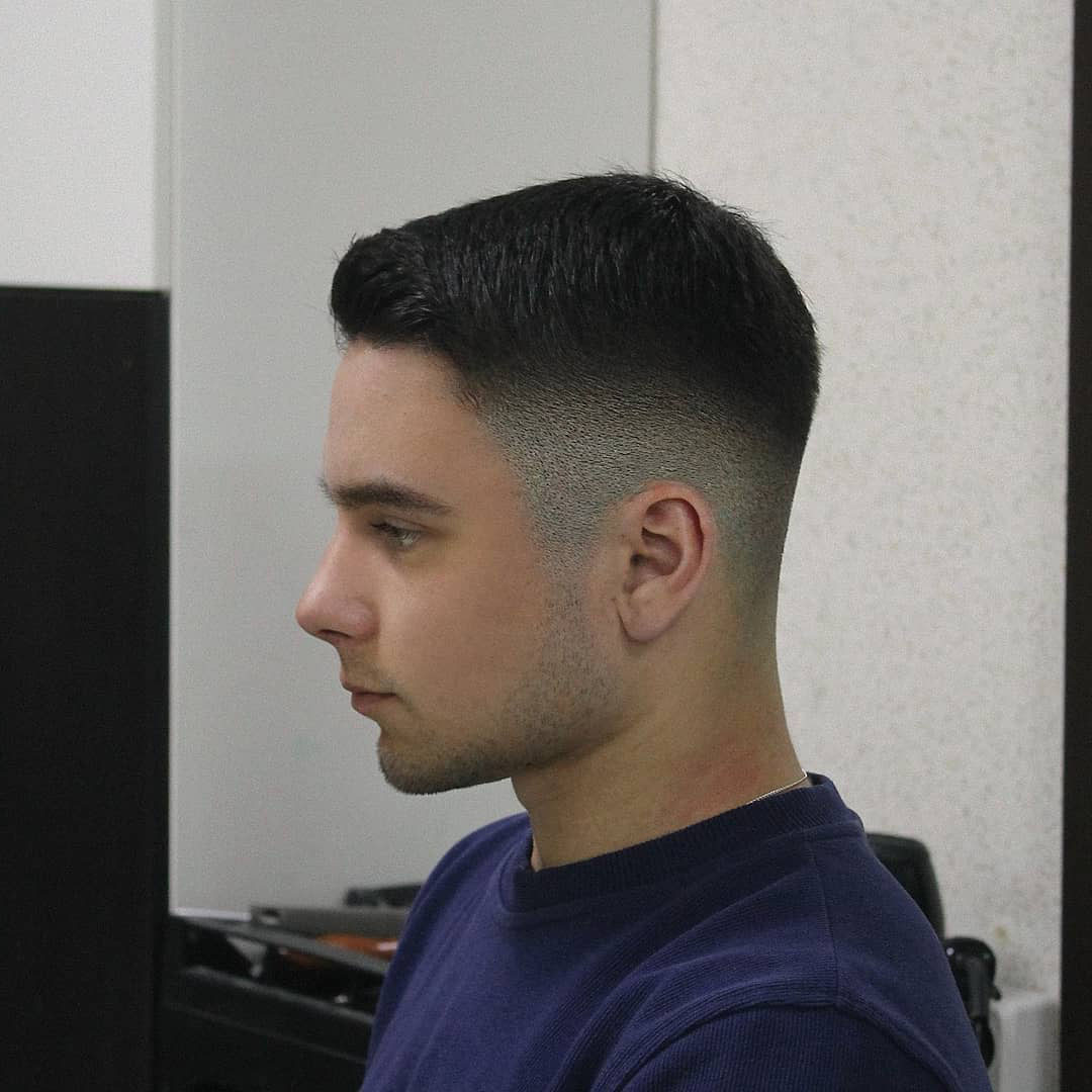All Around Taper Fade Haircut for Guys - left side view