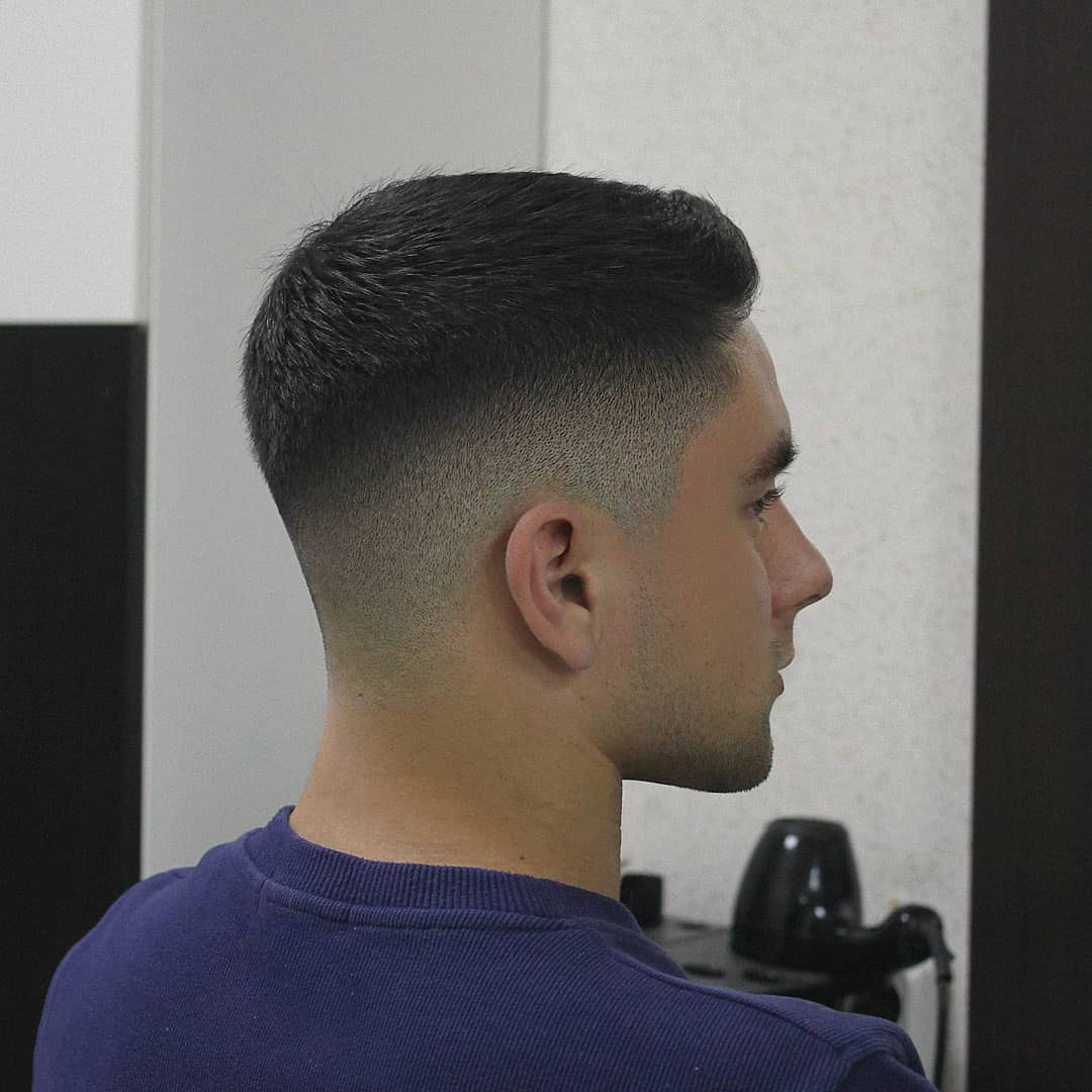 All Around Taper Fade Haircut for Guys - right side view