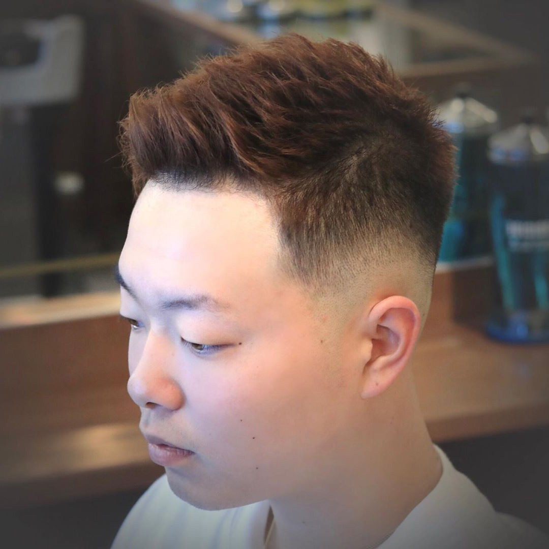 Asian Bald Fade Haircut