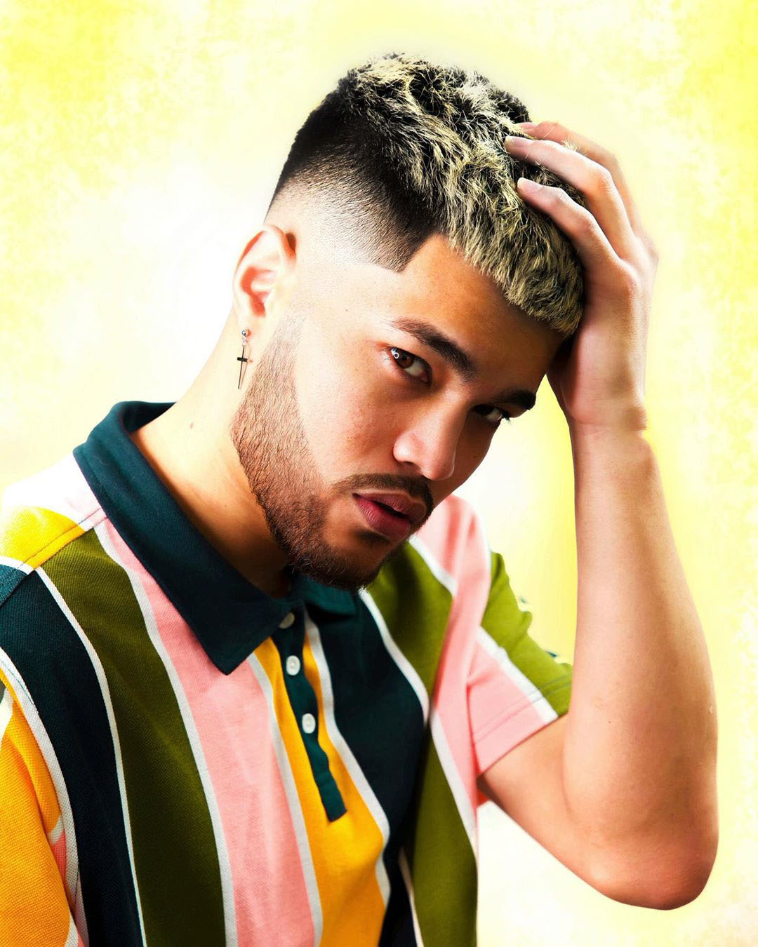 Asian Highlighted Hairstyle for Young Guys