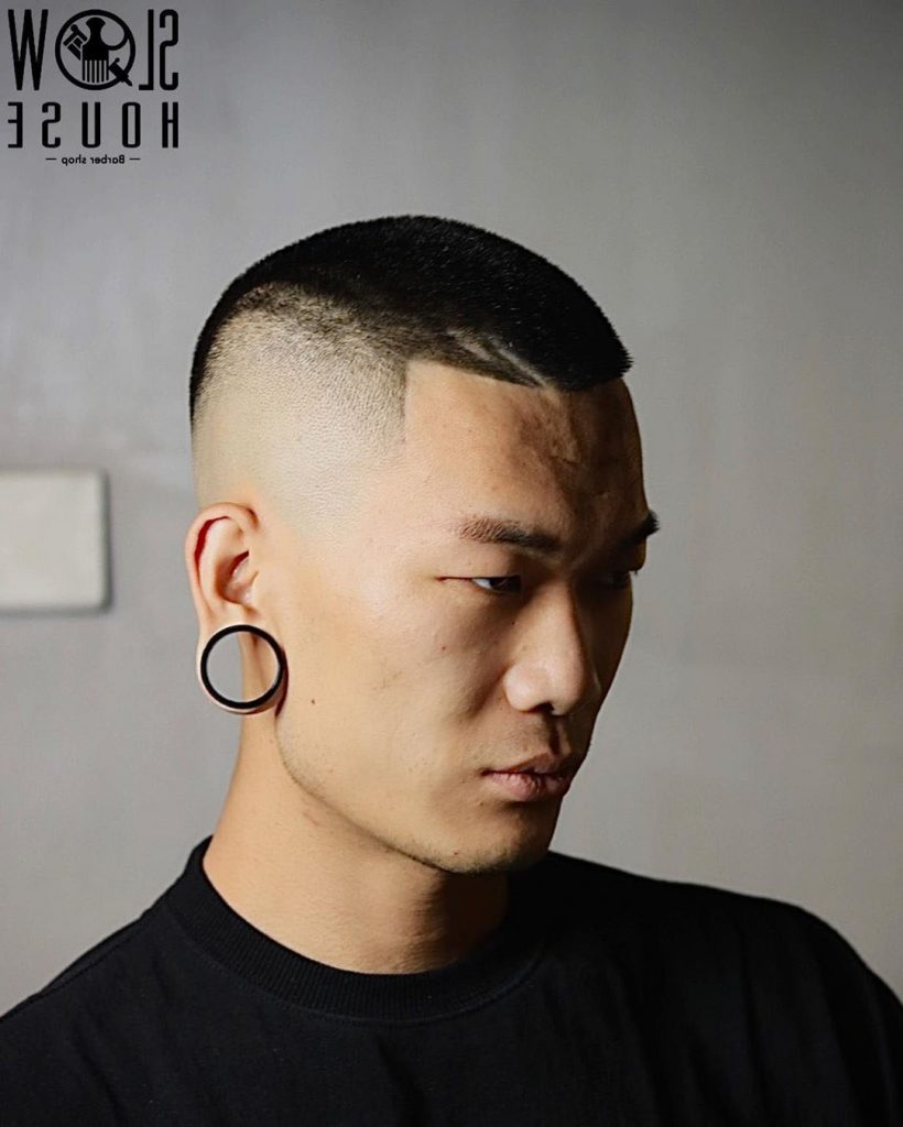 Asian Military Haircut with High Fade