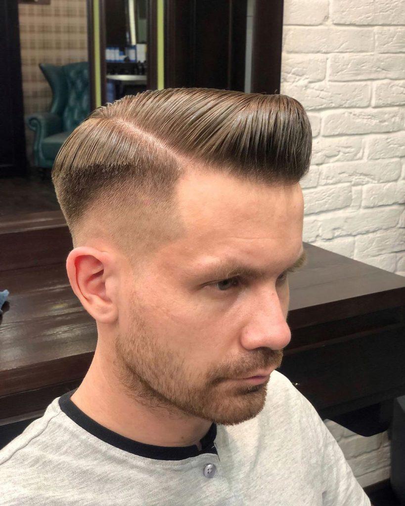 Bald Fade + Comb Over