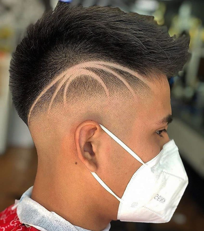Bald Fade with Design