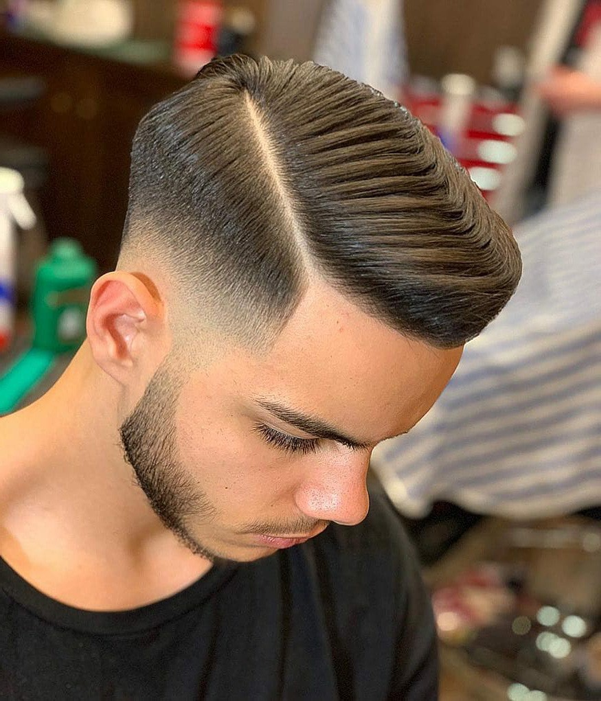 Bald Fade with Part Side