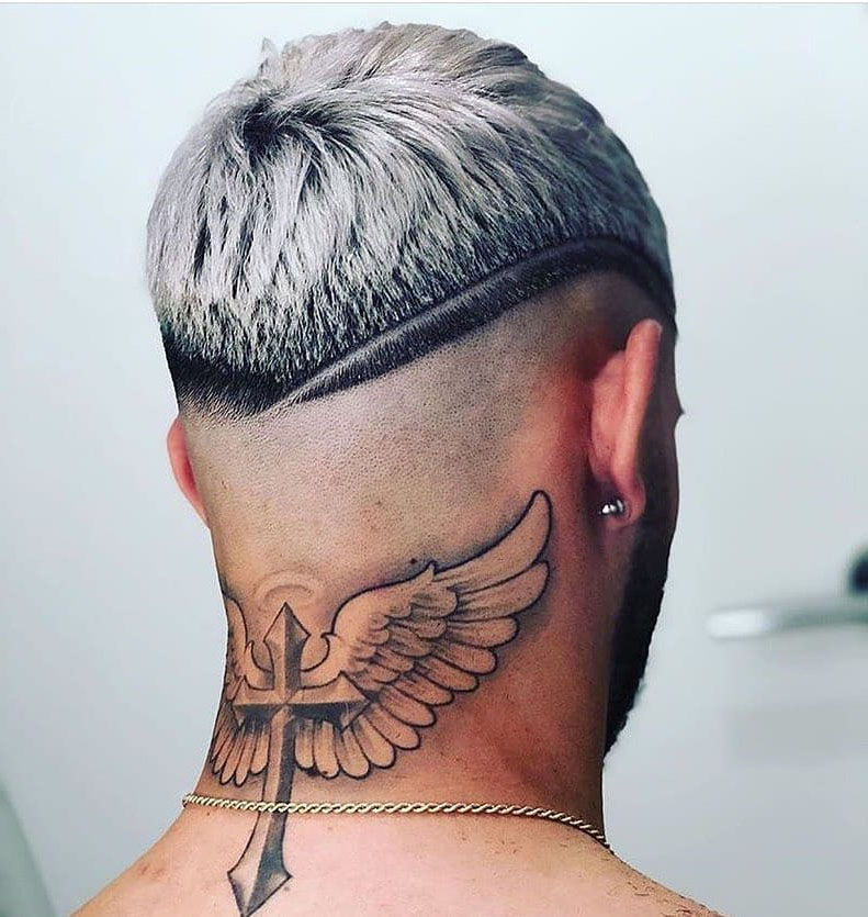 Bald Taper Fade Hairstyle for Blonde Guys