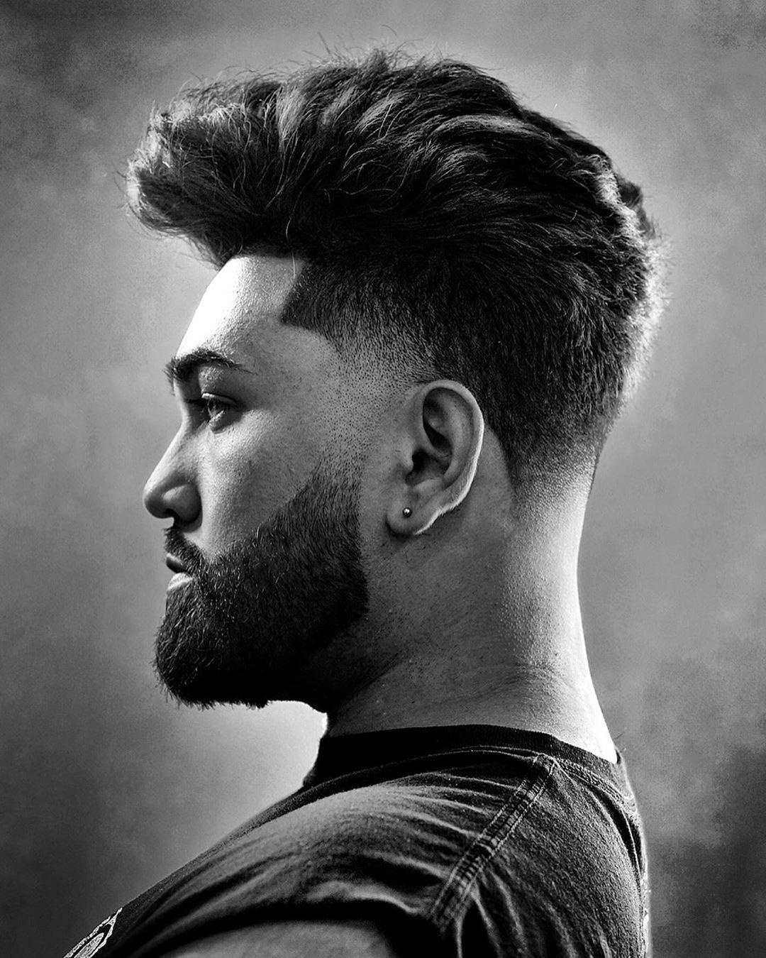 Blowout Taper Fade Haircut for Powerful Men