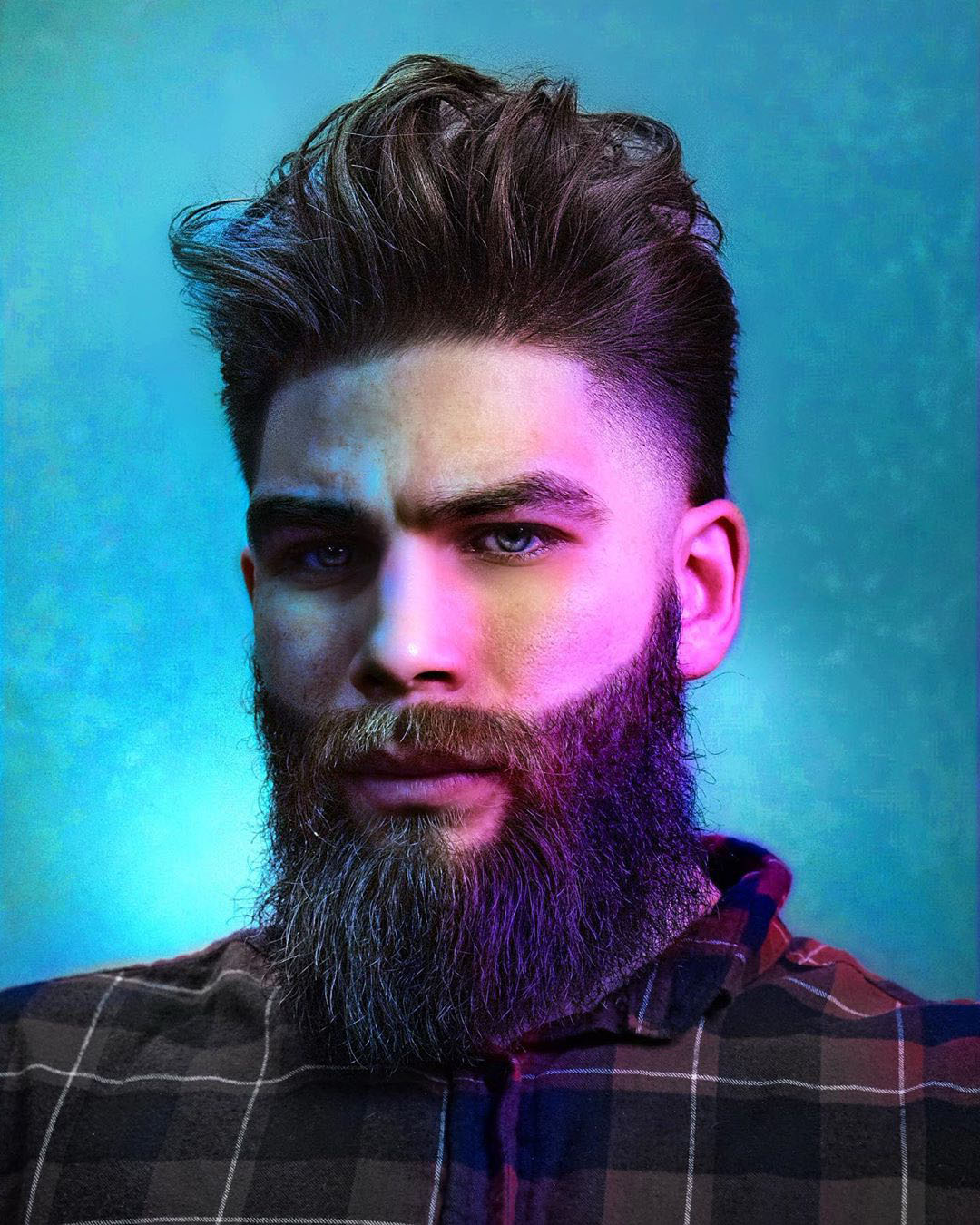Burst Hairstyle for Powerful Men with Long Beard