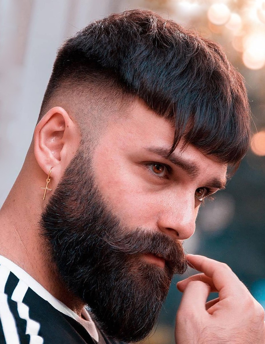 Buzz Cut with Beard for Men