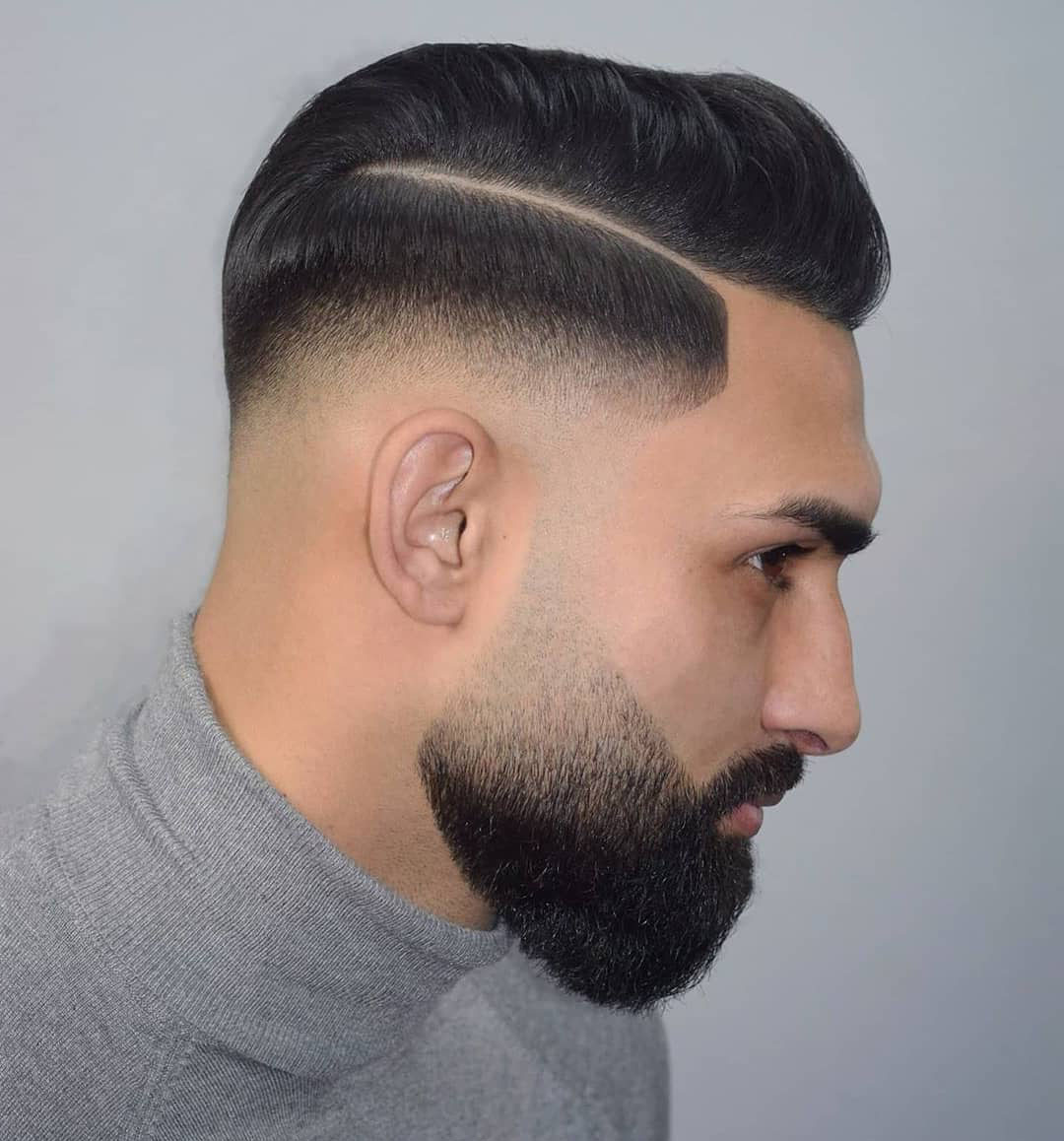 Comb Over Hairstyle for Black Hair Men