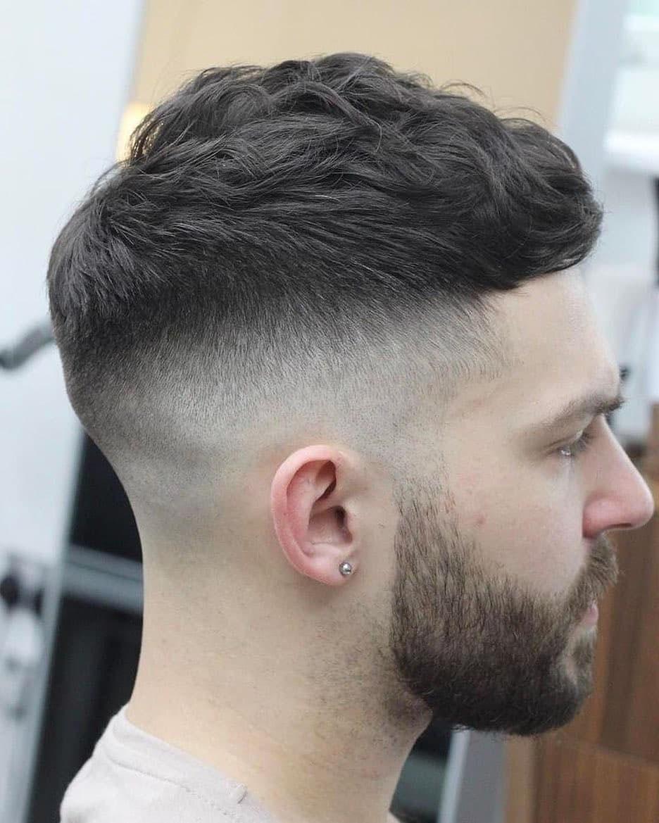 Crop Haircut with Full Beard