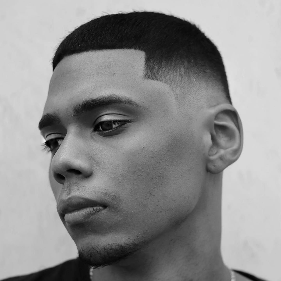 Crop Top Taper Fade Hairstyle for Guys