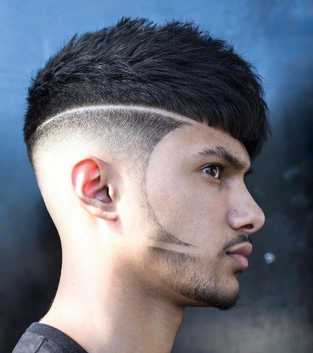 Disconnected Undercut Haircut with Beard Design