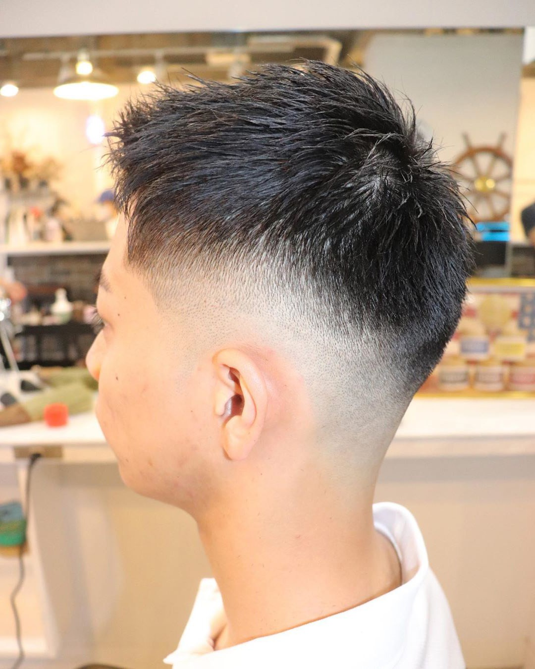 Drop Bald Fade Haircut