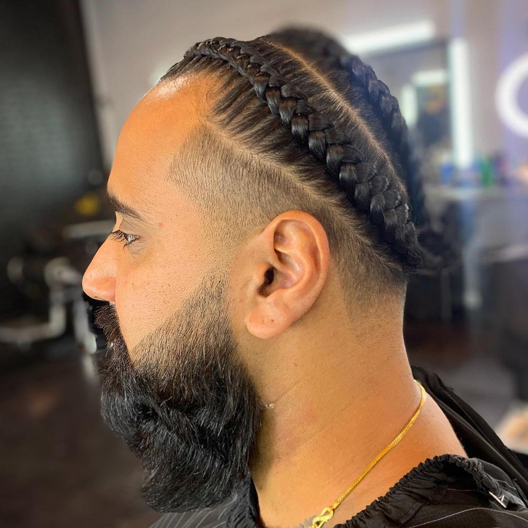 Drop Fade + Braids
