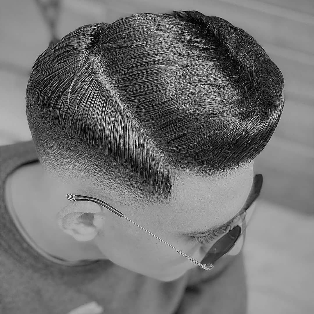 Drop Fade + Comb Over